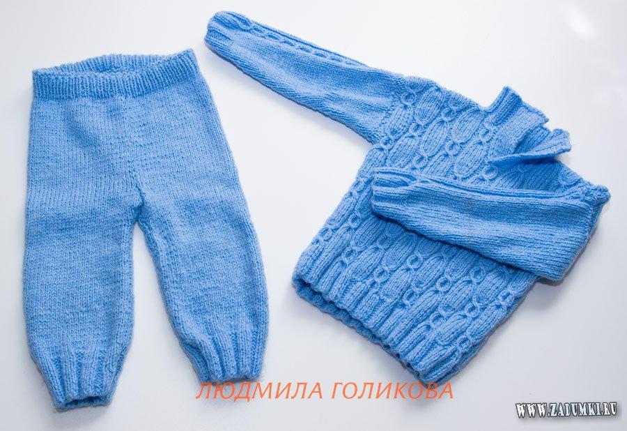 Вязание штанов и схема