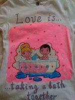 Hand made футболка Love is...