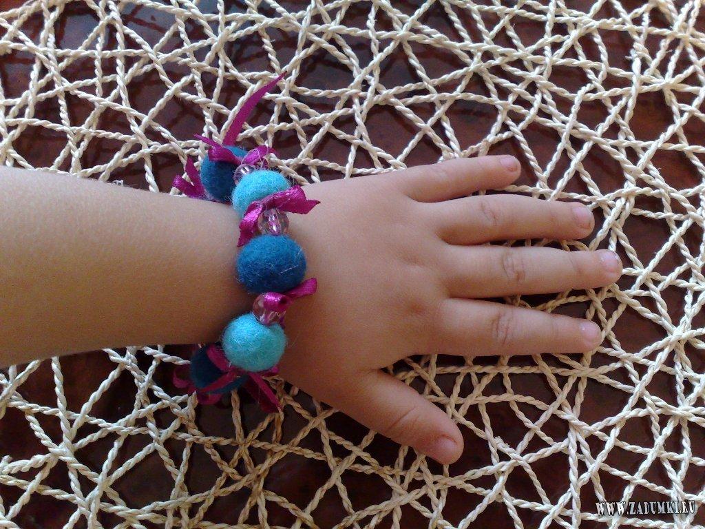 Браслеты для маленьких девочек своими руками 68