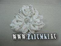 Вязаные цветы-броши