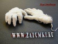 Серьги «Рука мумии»