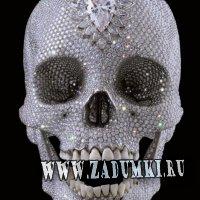 Гламурный череп по мотивам Дениела Херста (hand made)