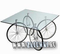 Гибрид столика и велосипеда от Гаэ Ауленти