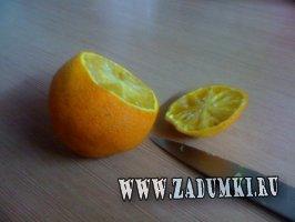 Cвеча из мандарина и гвоздики