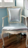 Как покрасить кожаный стул