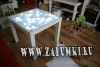 Обновите кофейный столик IKEA  с помощью встроенной подсветки