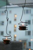 Обмотанные проволокой чайные свечи