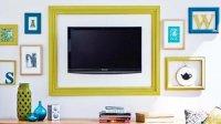 Как превратить настенное крепление телевизора в искусство