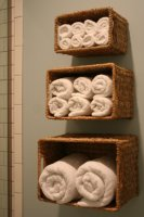 Идеальное решение для хранения банных полотенец