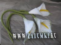 Белые каллы (100% шерсть)