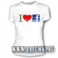 "Футболка ""I love facebook"""
