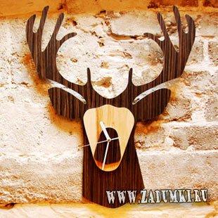 Уникальные деревянные настенные часы в форме головы животного из джунглей