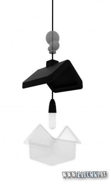Лампа в форме дома