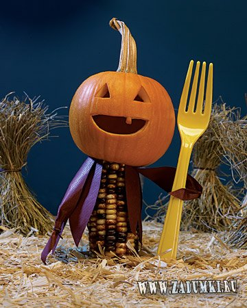Примеры оформление тыкв на Хеллоуин