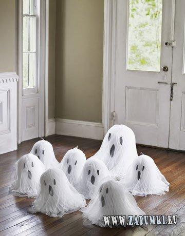 Декорация дома для Хэллоуина