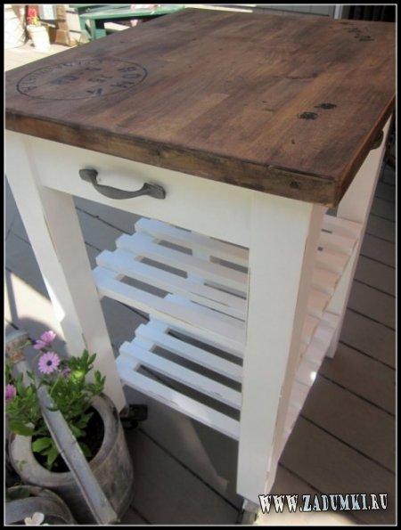 Этажерка от IKEA в деревенском стиле
