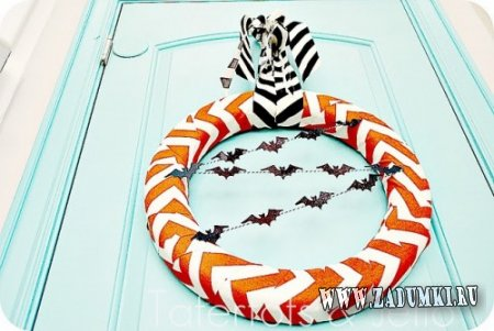 Необычный венок на Хэллоуин