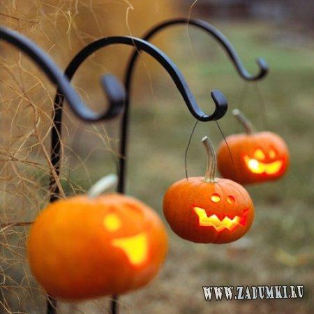Примеры оформления тыкв на Хеллоуин