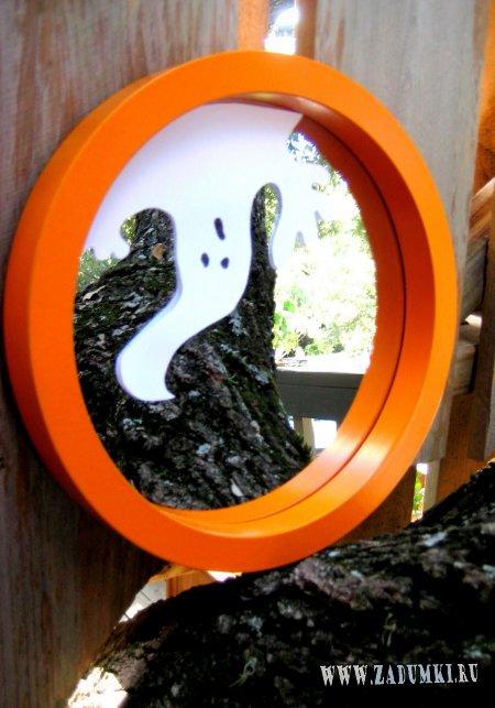 Зеркало с приведением на входной двери