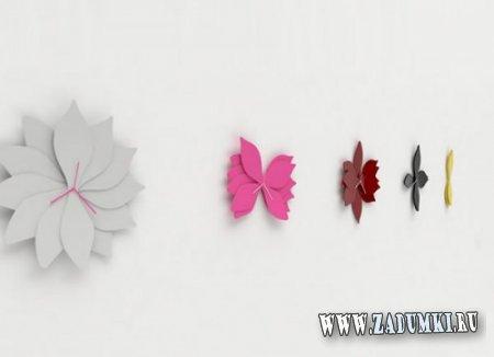 Настенные часы в виде цветов лотоса