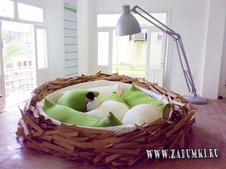 Кровать - птичье гнездо