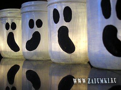 Изготовление призраков из банок