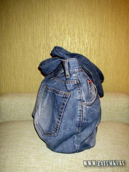 Сумка из старых джинс