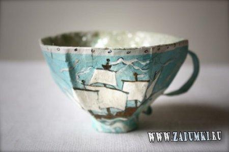 Декоративные чашки из папье-маше