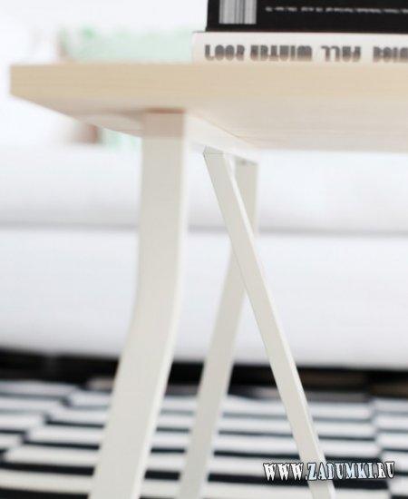 Легкий кофейный столик в скандинавском стиле