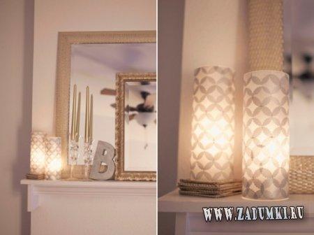 Очаровательные светильники, покрытые бумажными медальонами