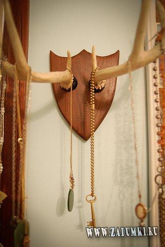 Стойка для ожерелий и цепочек из рогов!