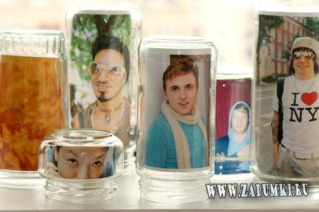 Рамки из стеклянных банок
