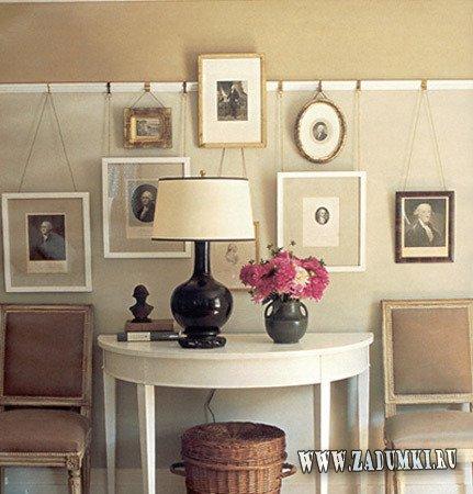 15 креативных идей размещения фотографий и картин на стене
