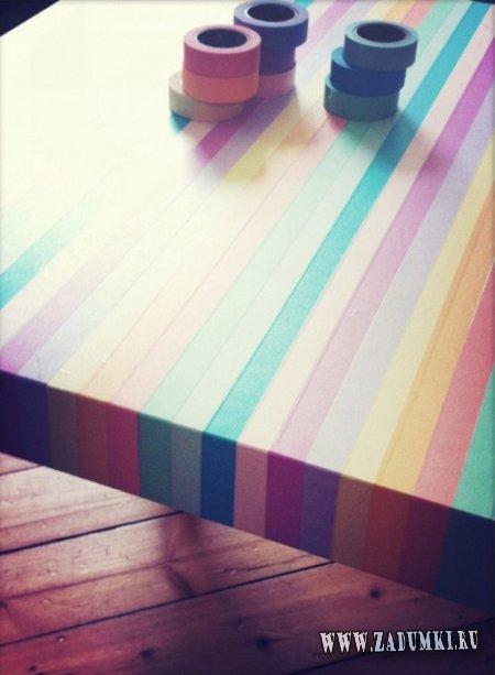 Как легко изменить вид обычного деревянного стола?