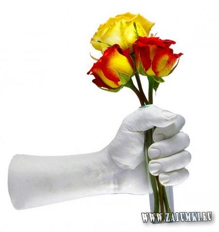 Креативная ваза в виде руки