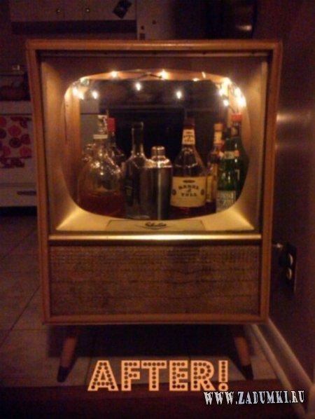 Винтажный телевизор - бар