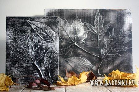 Идея поделки из листьев