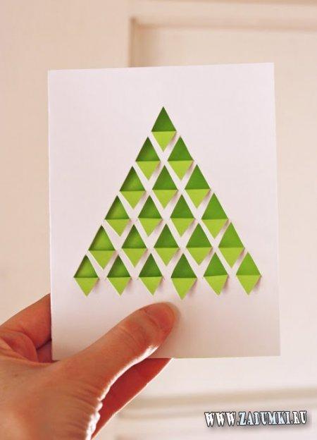 Трехмерная открытка к Рождеству