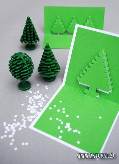 Пиксельные самодельные открытки