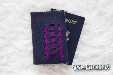 Войлочная обложка для паспорта своими руками