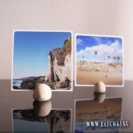 Глиняные подставки для фотографий из инстаграма