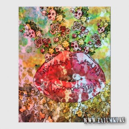 """Картина """"Цветочный поцелуй"""",  40 х 50 см, 2013 год"""