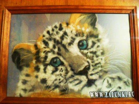 Леопардик из шерсти