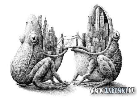 Иллюстрации Редмера Хестра - животные, люди, предметы и машины как единое целое